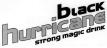 black hurricane STrong magic drink Logo