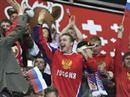 Jubel bei den russischen Fans zum 2:1.