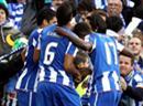 Portos Jubel nach dem 1:0 von Falcao.