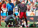 Hector Moreno verletzt am Boden.