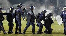 Am 23. Oktober hatten Sparta-Supporter die Fans von Slovan angegriffen und für einen Spielunterbruch von 40 Minuten gesorgt. (Symbolbild)
