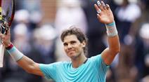 Rafael Nadal war siegreich gegen Dusan Lajovic.