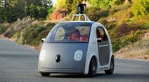Prototyp des selbstfahrenden Google-Autos.
