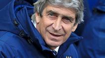 Manchester Citys Trainer Manuel Pellegrini steht unter Druck.