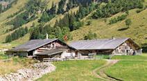 Die Alp Grosser Mittelberg im Justistal.