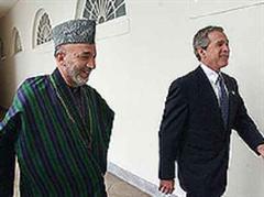 Bush empfing den afghanischen Präsidenten Hamid Karsai. (Archivbild)