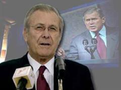 Donald Rumsfeld war für seine Irak-Politik heftig kritisiert worden.