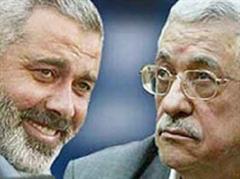 Ministerpräsident Haniya und Palästinenserpräsident Abbas.