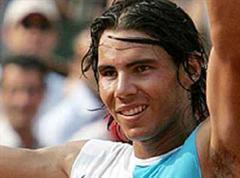 Nadal jubelt nach dem Sieg.