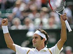 Brachte gute TV-Quoten: Roger Federer in Wimbledon.