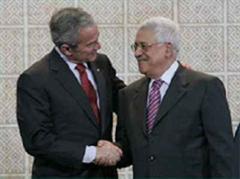Bush wolle Palästina helfen.