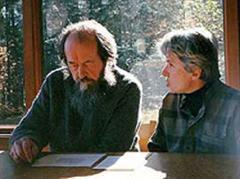 Alexander Solschenizyn mit seiner Frau, Natalja Swetlowa..