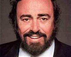 Gefeierter Luciano Pavarotti.