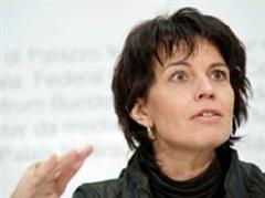 «Hinter dem Rücken der Schweiz»: Doris Leuthard.
