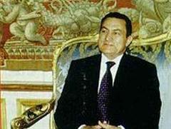 Ägyptens Präsident Mohamed Hosni Mubarak