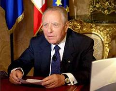 Staatspräsident Carlo Azeglio Ciampi.