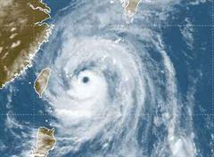Das Auge des Taifuns  vor Taiwan.