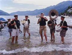 Happy Feet Brass Band hat am Festival JazzAscona viel Spass.