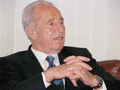 Auch Shimon Peres schaute sich das Spiel an.