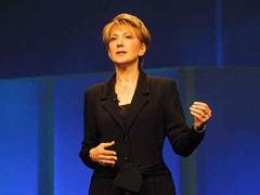 """Carly"" Fiorina, CEO von HP."
