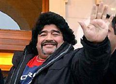 Maradona, vor seiner Operation.