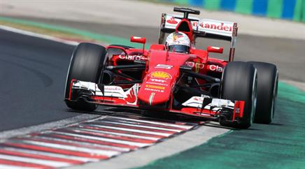 Sebastian Vettel in Ungarn.