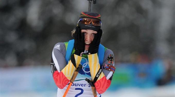 Magdalena Neuner holte Gold in der Verfolgung.