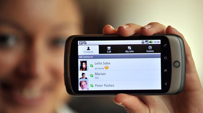 Skype für Android.