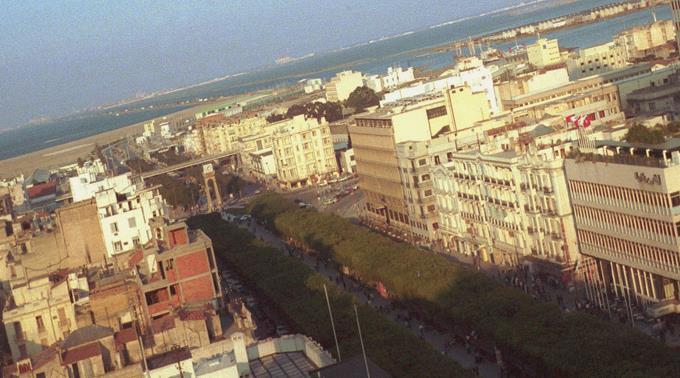 Blick auf die Avenue Habib Bourguiba in Tunis.