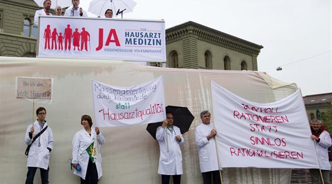 Initianten der Volksinitiative «Ja zur Hausarztmedizin». (Archivbild, 2011)