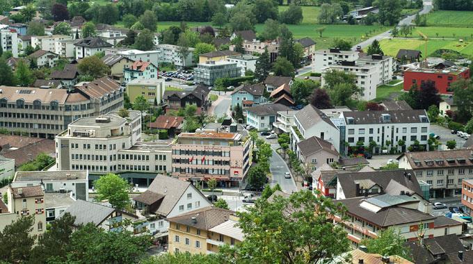 Blick auf Vaduz.