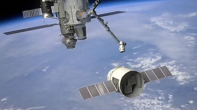 Dragon: Erste private Raumkapsel könnte bald an ISS andocken (Illustration).