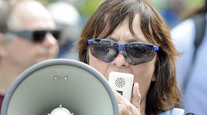 Zürcher Linksaktivistin Andrea Stauffacher geht vor Bundesgericht.