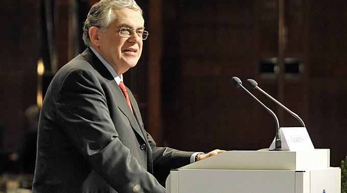Ministerpräsident Lucas Papademos.