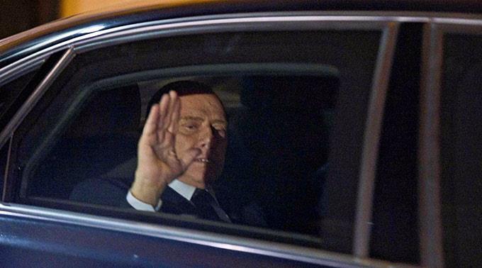 Silvio Berlusconi war gestern zurückgetreten.