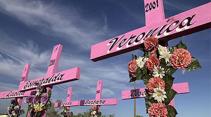 Kreuze in Ciudad Juárez.