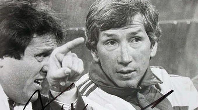 Willi Entenmann (r.) mit Arie Hahn.