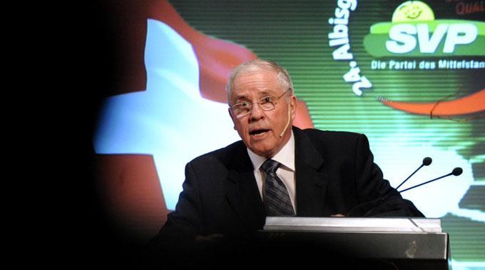 Christoph Blocher wiederholte seine Kritik an der SNB.