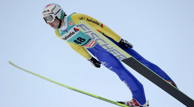Simon Ammann flog 127,5 Meter weit.