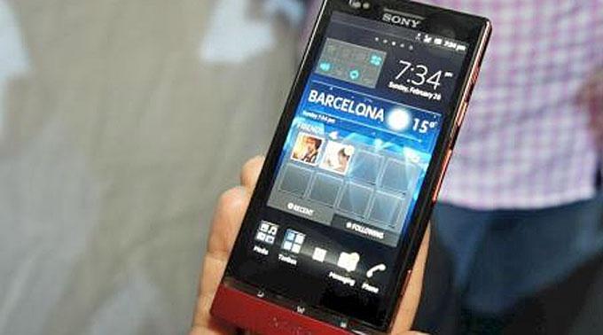 Sony stellt Mobile Xperia P vor.
