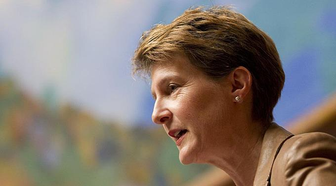 Bundesraetin Simonetta Sommaruga.