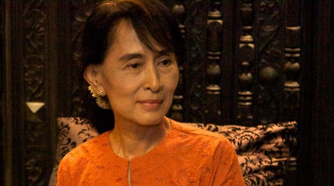 Burmesische Oppositionsführerin Aung San Suu Kyi