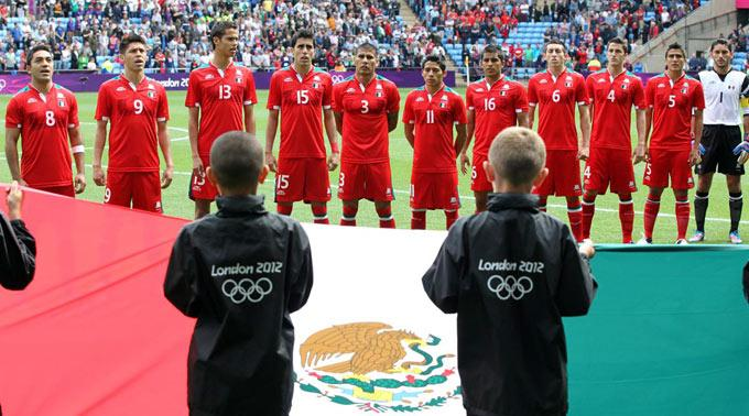 Die mexikanische Fussballmannschaft kämpft um Gold.
