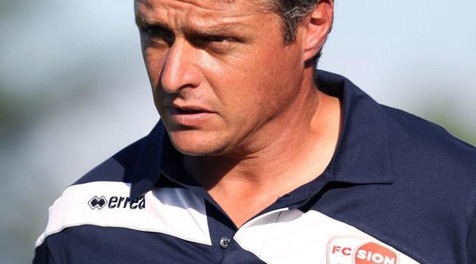 Sions Trainer Sébastien Fournier.