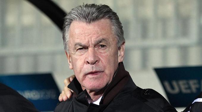 Nati-Coach Ottmar Hitzfeld hielt seine Emotionen im Zaum. (Archivbild)