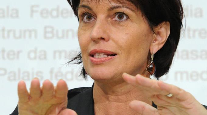 Verkehrsministerin Doris Leuthard
