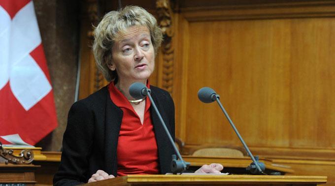 Finanzministerin Eveline Widmer-Schlumpf.