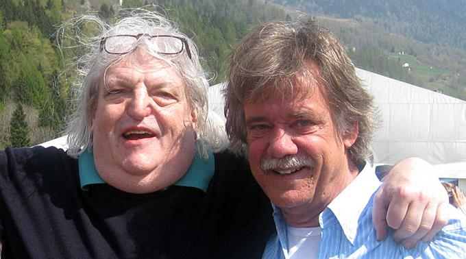 Der verstorbene Lega-Chef Giuliano Bignasca mit Michele Barra.