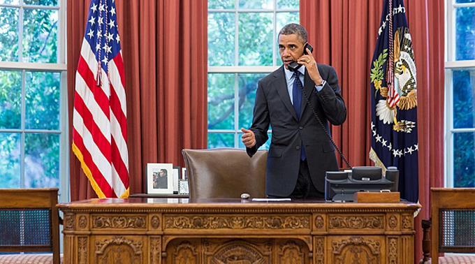 Barack Obama hat Israel die US-Rückendeckung zugesagt. (Archivbild)