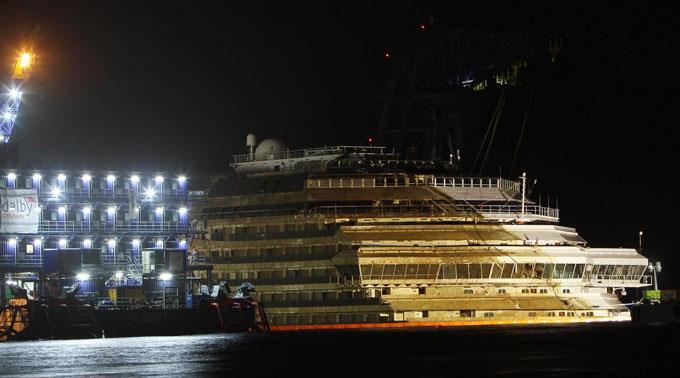 Das Wrack der «Costa Concordia» vor Giglio.